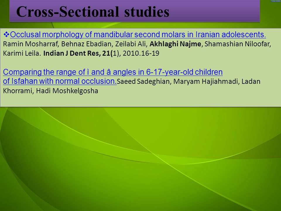 جد  Occlusal morphology of mandibular second molars in Iranian adolescents.