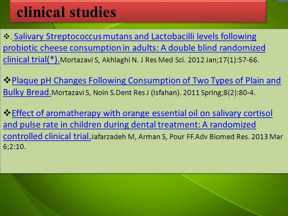 جد . Salivary Streptococcus mutans and Lactobacilli levels following probiotic cheese consumption in adults: A double blind randomized clinical trial