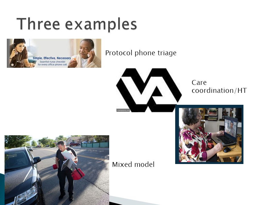Care coordination/HT Protocol phone triage Mixed model