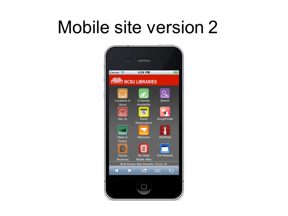 Mobile site version 2