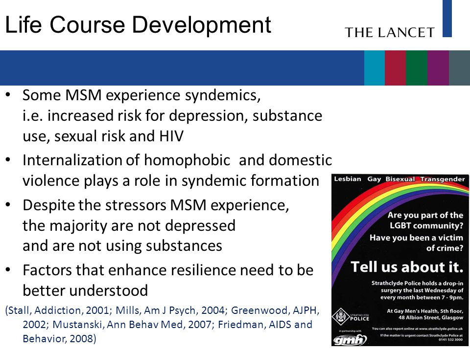Resilience in the Face of Stressors: Majority of MSM are not infected or risk taking No.