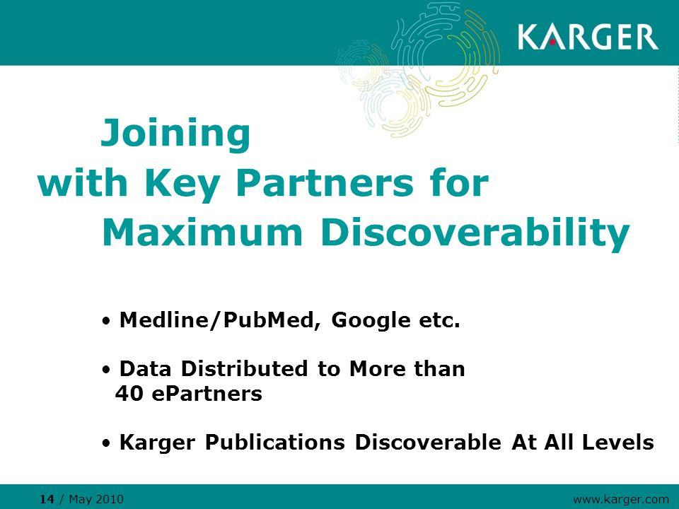 Medline/PubMed, Google etc.