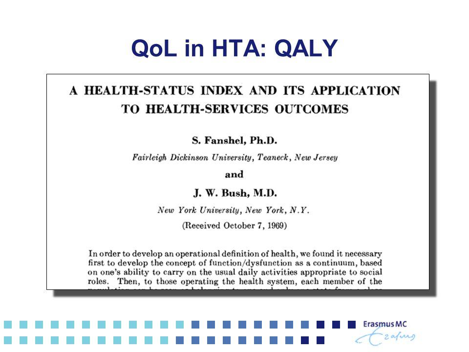 QoL in HTA: QALY