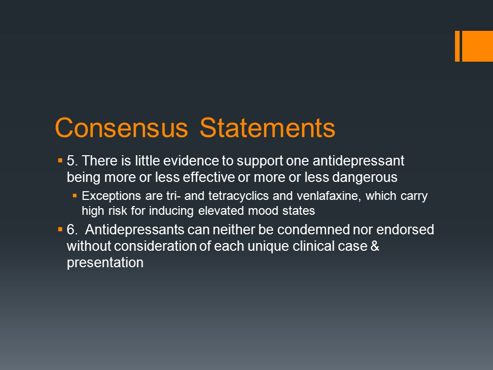 Consensus Statements  5.