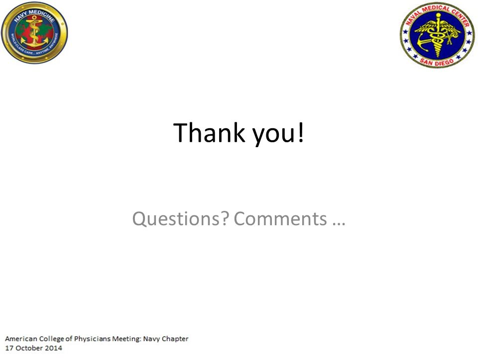 Thank you! Questions? Comments …