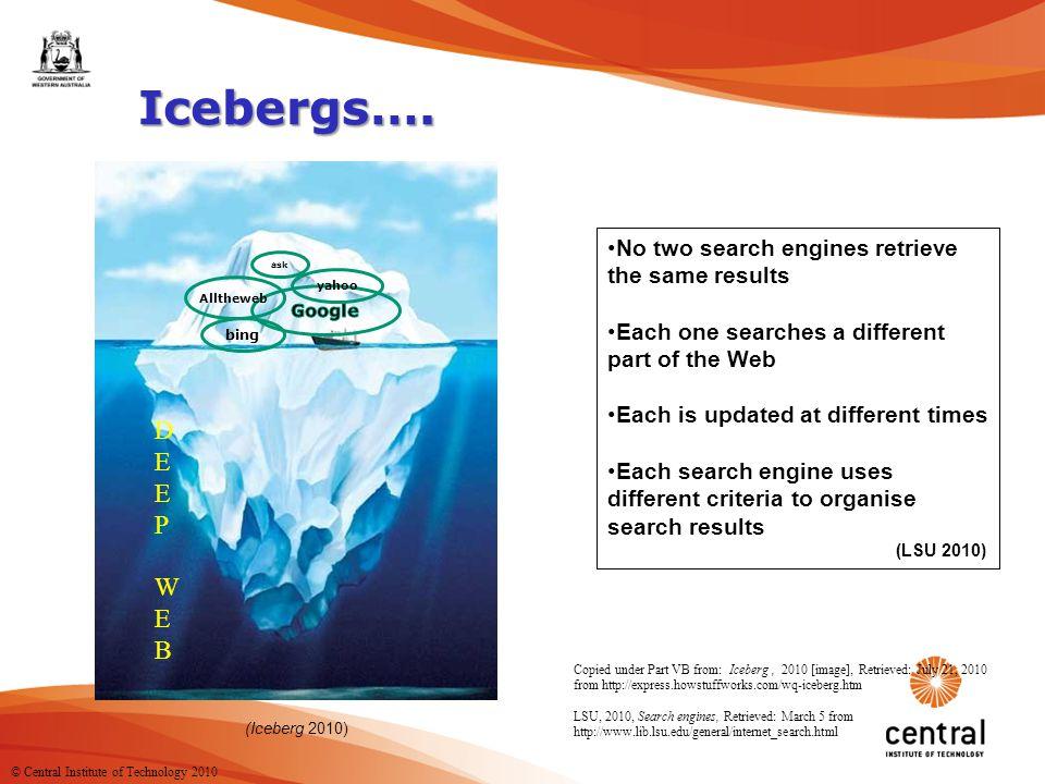 12 Icebergs….