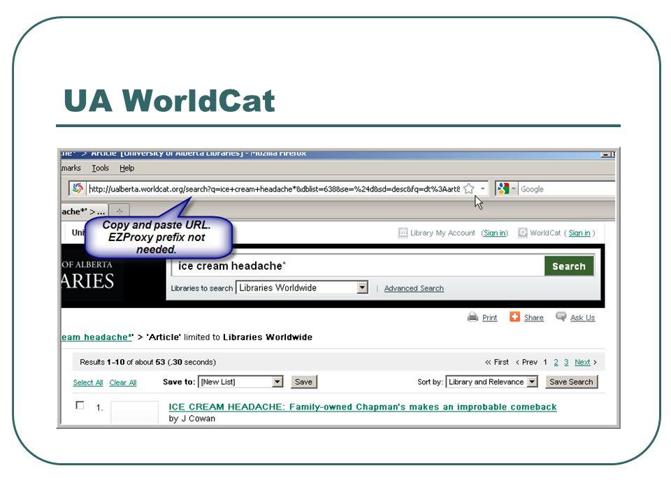 UA WorldCat