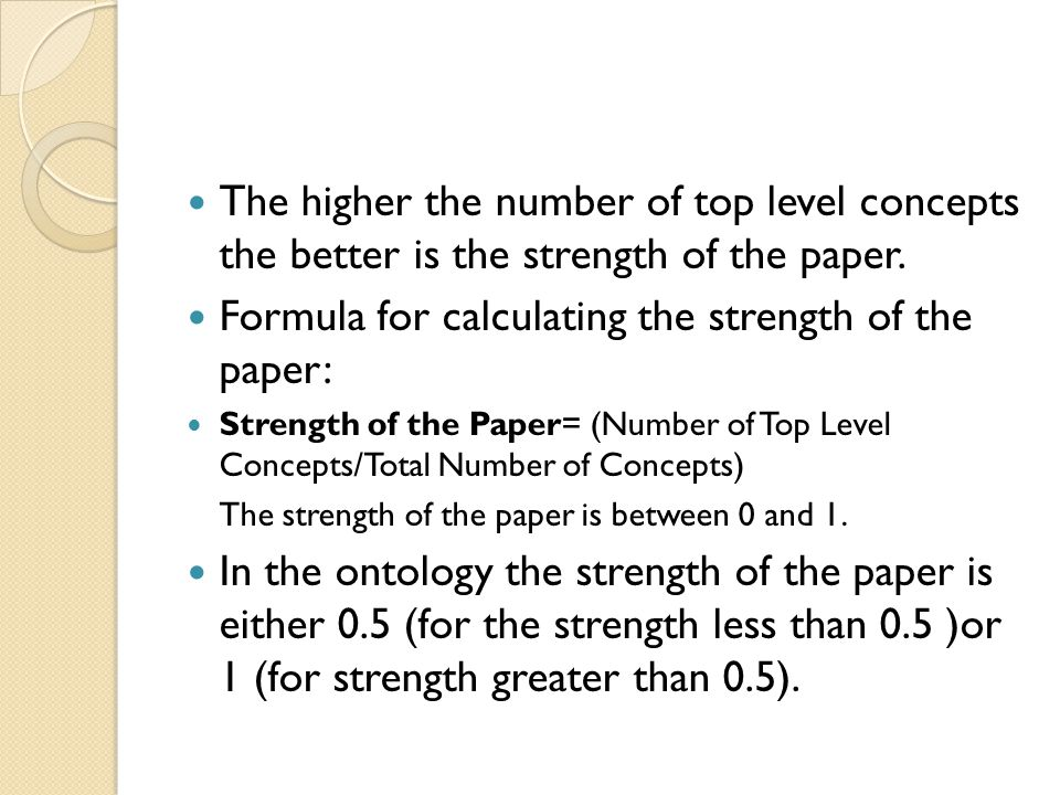 The higher the number of top level concepts the better is the strength of the paper.