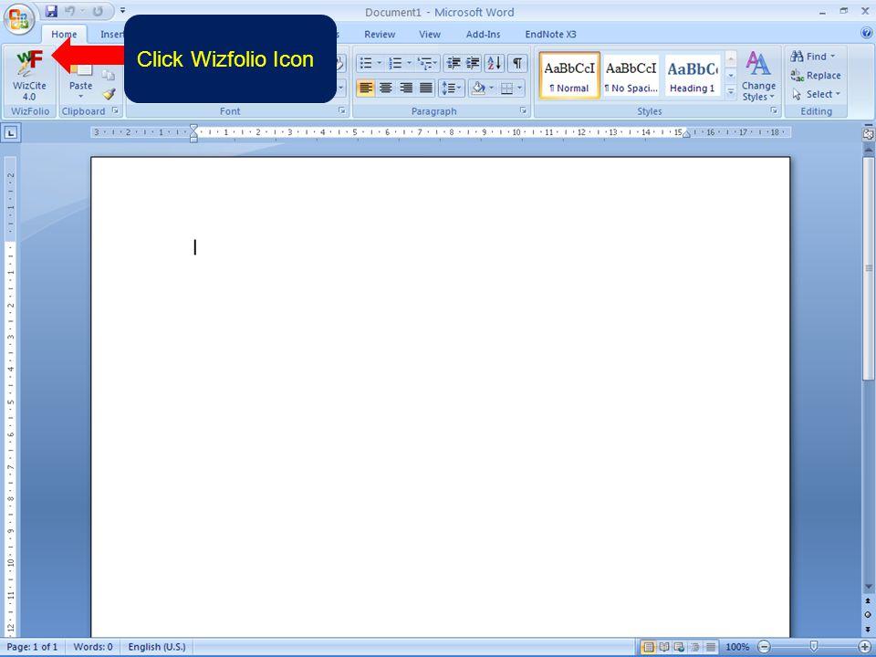 Click Wizfolio Icon