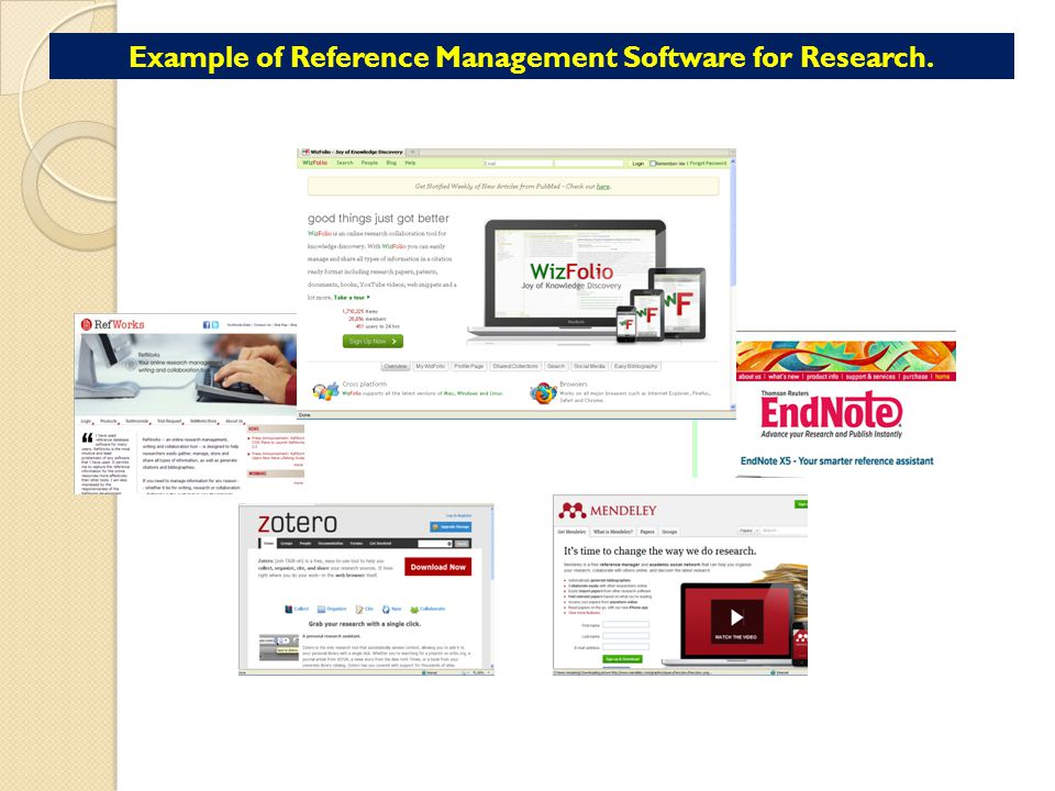 Example of Reference Management Software for Research.