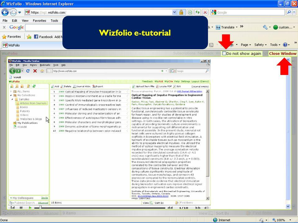 Wizfolio e-tutorial