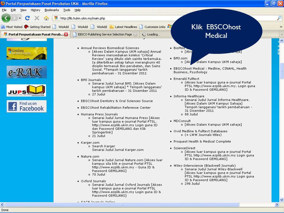 Klik EBSCOhost Medical