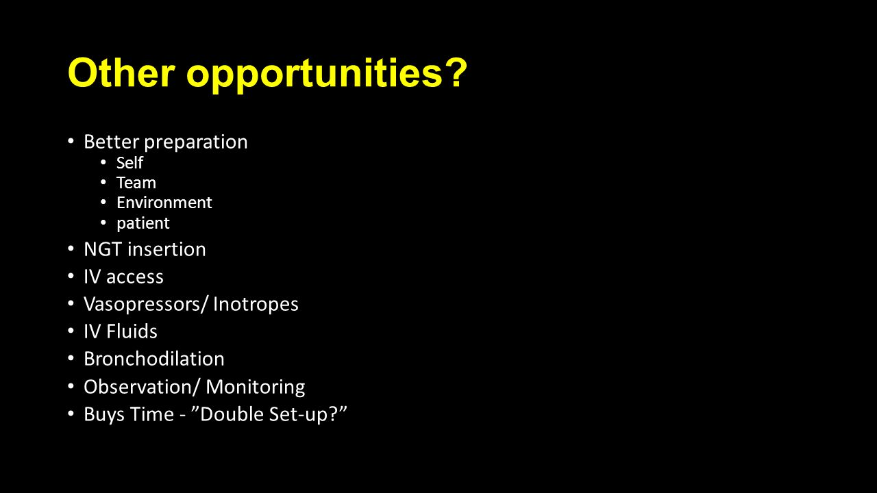 Other opportunities.