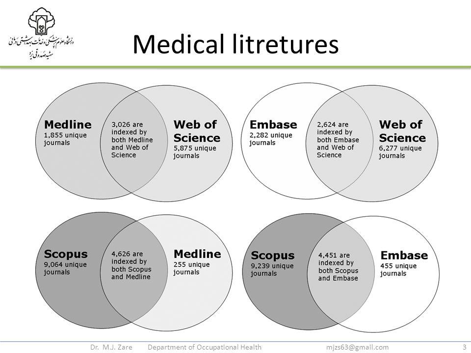 Medical litretures Dr. M.J. Zare Department of Occupational Health mjzs63@gmail.com3