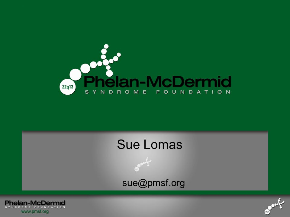 From Idea to IMPACT: Building a Foundation that Inspires Families Sue Lomas Sam's Mom President Phelan-McDermid Syndrome Foundation