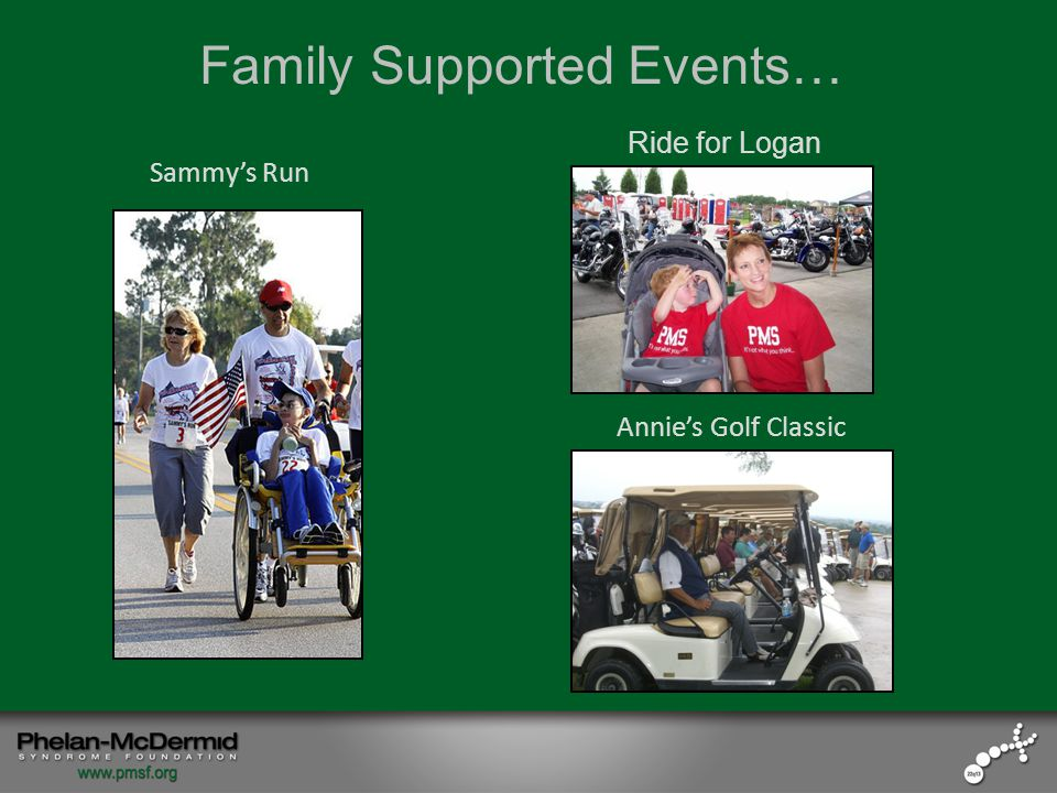 Sammy's Run Family Supported Events… Ride for Logan Annie's Golf Classic