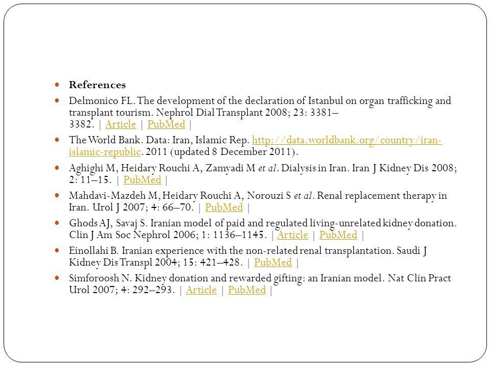 References Delmonico FL.