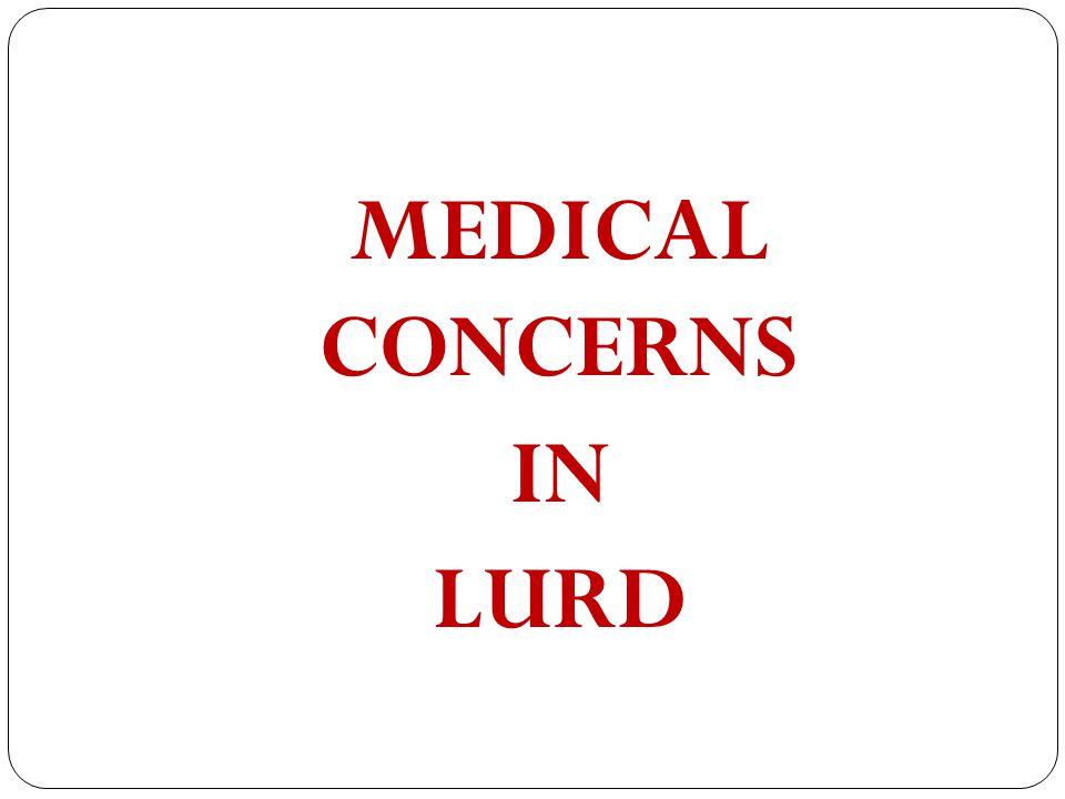 MEDICAL CONCERNS IN LURD
