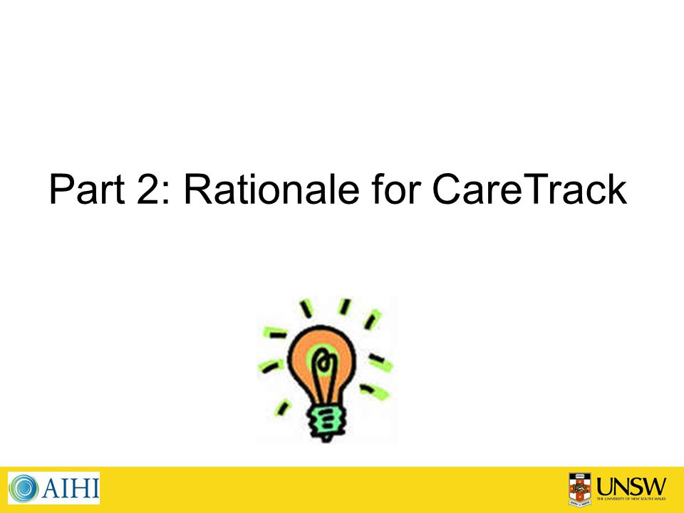 Part 2: Rationale for CareTrack
