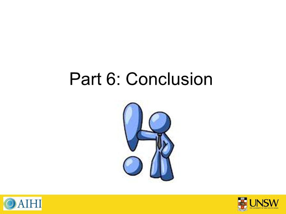 Part 6: Conclusion