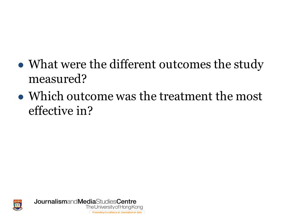 What were the different outcomes the study measured.