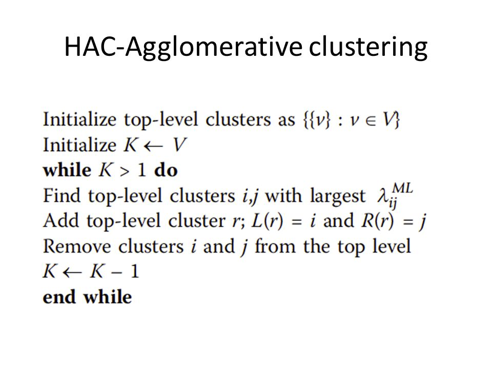 HAC-Agglomerative clustering