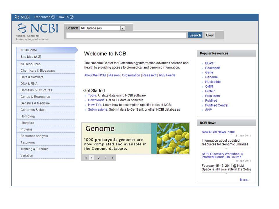 Entrez Sequences Help http://www.ncbi.nlm.nih.gov/books/NBK44864/