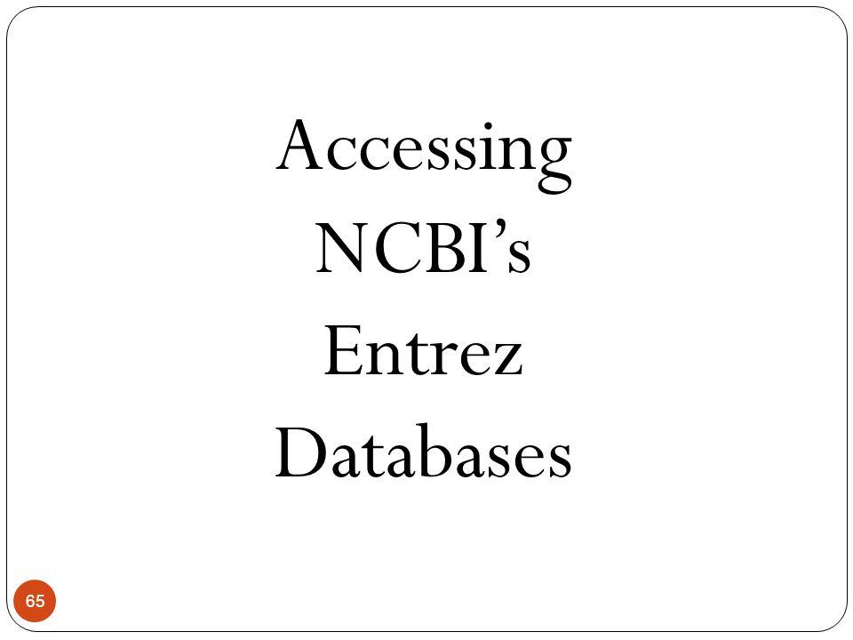 65 Accessing NCBI's Entrez Databases