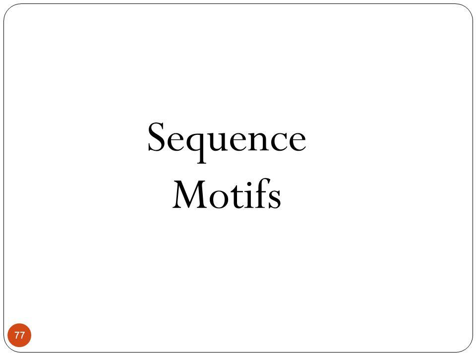 77 Sequence Motifs