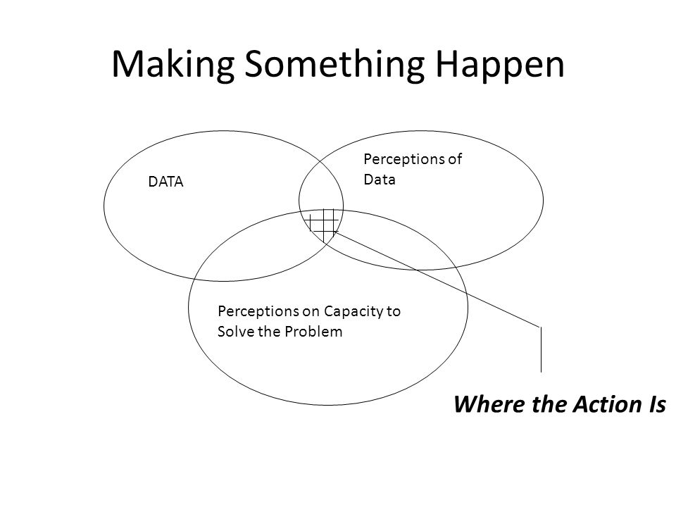 Making Something Happen DATA Perceptions of Data Perceptions on Capacity to Solve the Problem Where the Action Is