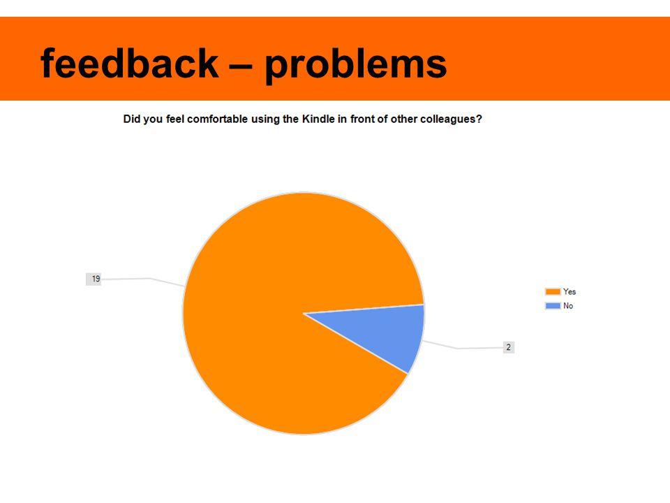feedback – problems