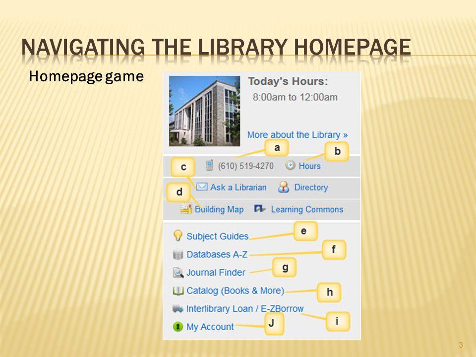 3 Homepage game