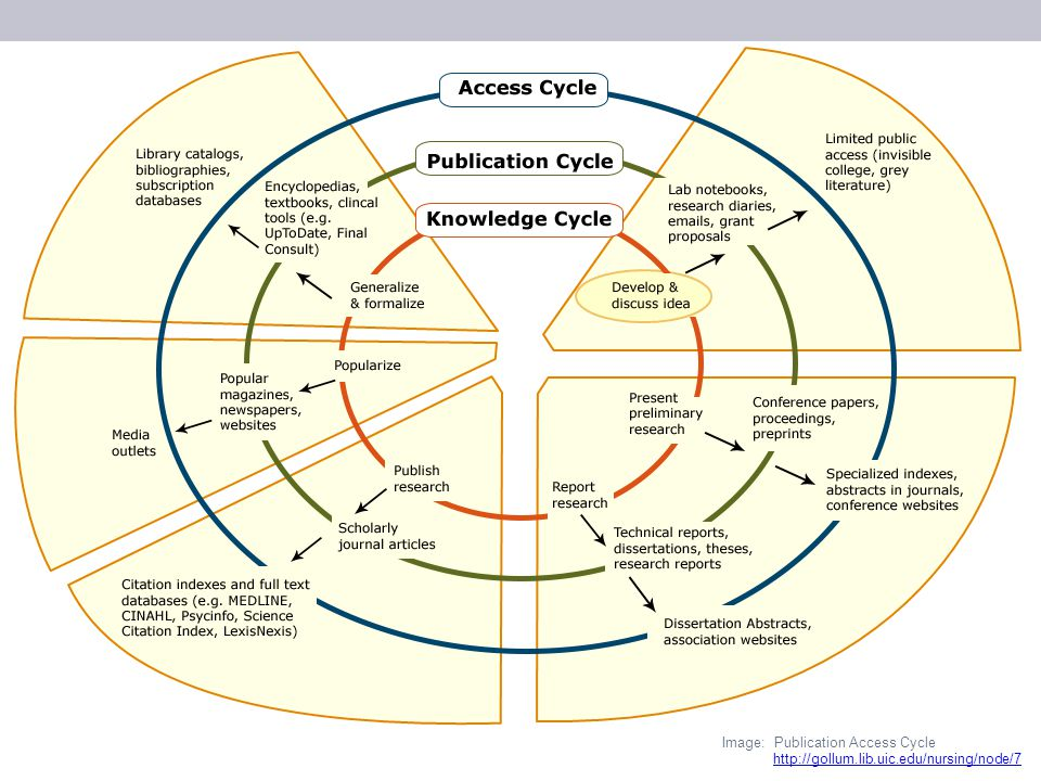 http://gollum.lib.uic.edu/nursing/node/7 Image: Publication Access Cycle