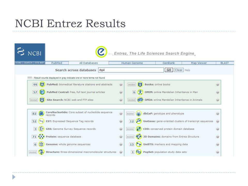 NCBI Entrez Results