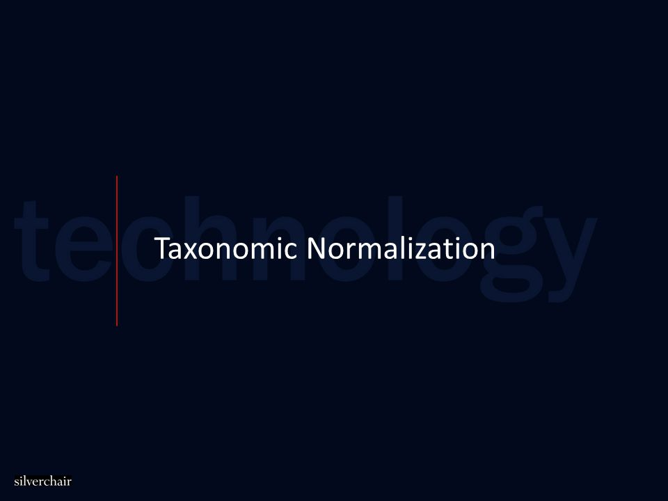 Taxonomic Normalization