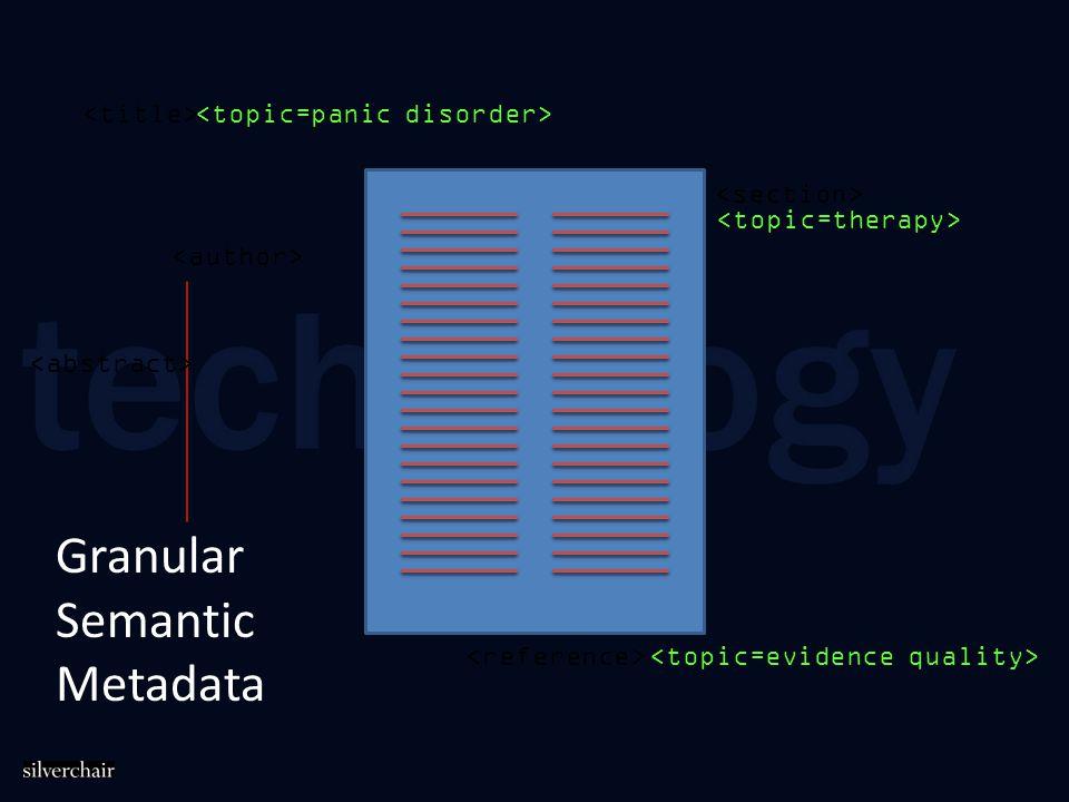 Granular Semantic Metadata