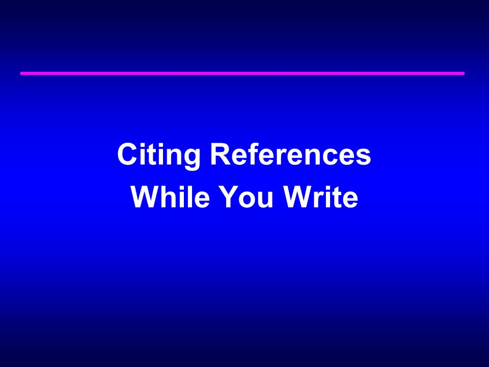 Citing References While You Write