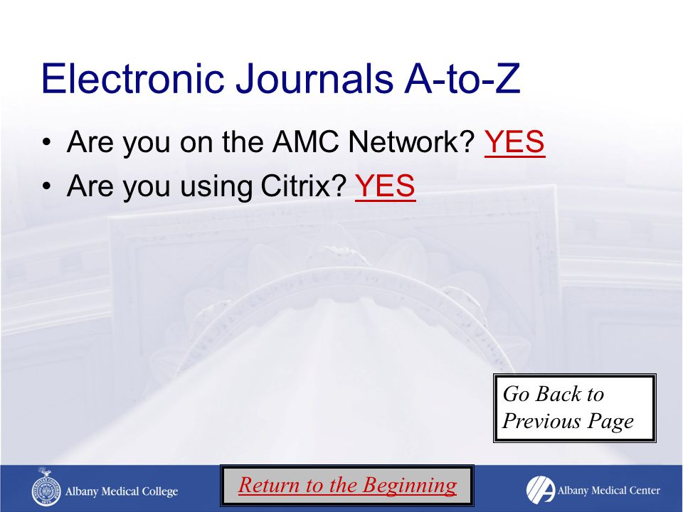 Broken links The link has become invalid If available, check publisher link Check A-to-Z (Library's authoritative listing of journals available online) Click here for A-to-ZClick here for A-to-Z Click here for other ways to access article Return to the Beginning Go Back to Previous Page