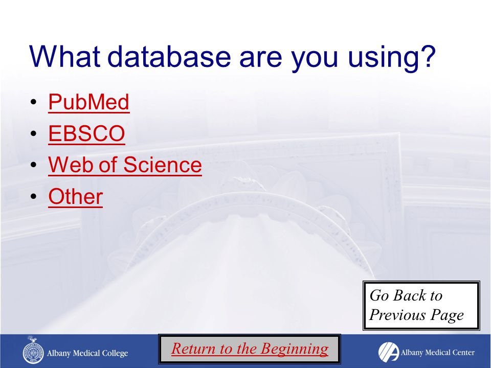 What database are you using.