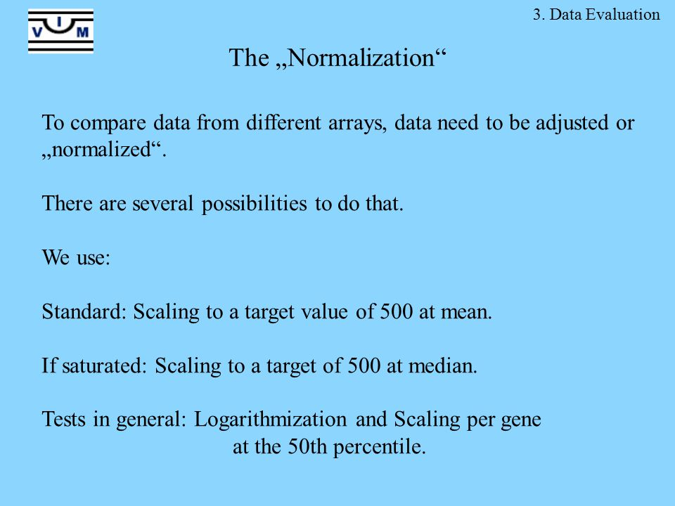 "The ""Normalization To compare data from different arrays, data need to be adjusted or ""normalized ."
