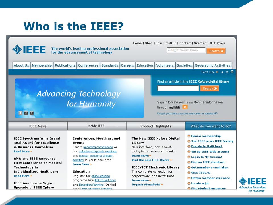 Who is the IEEE 3
