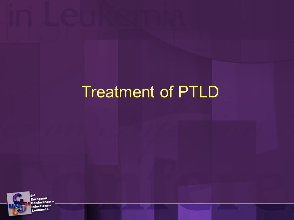 Treatment of PTLD