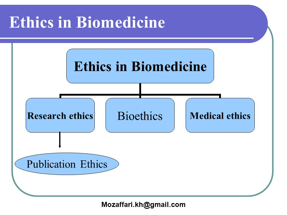 Mozaffari.kh@gmail.com Ethics in Biomedicine Research ethics Bioethics Medical ethics Publication Ethics