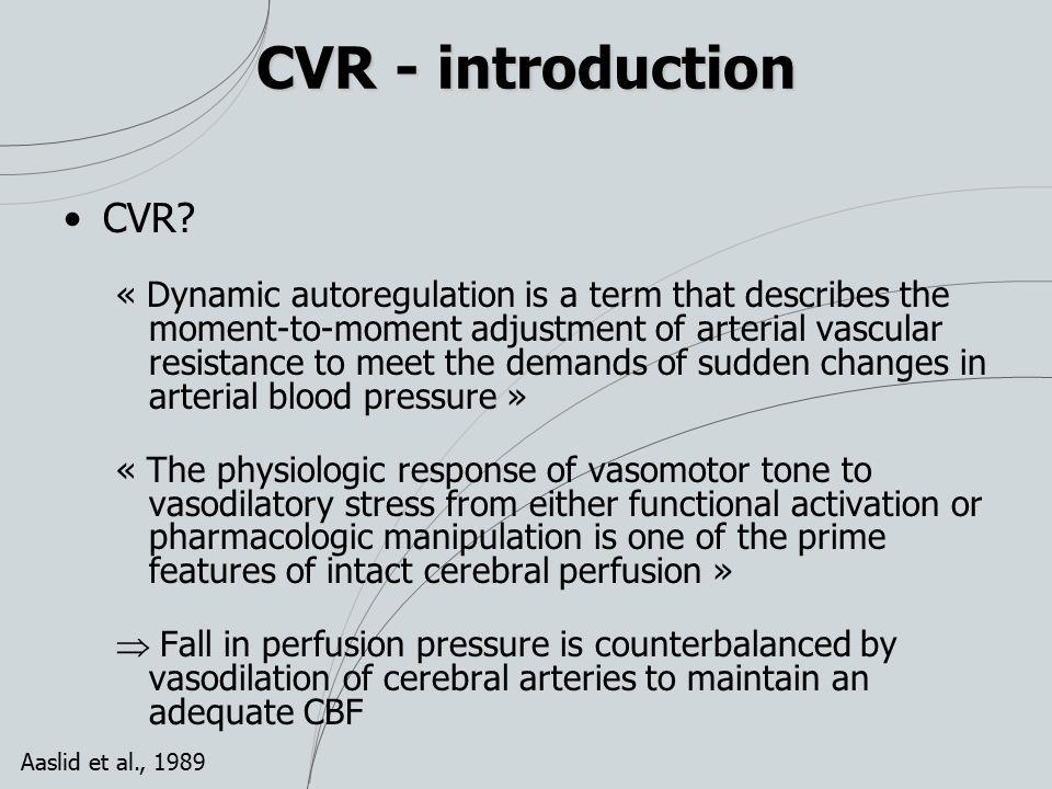 CVR - introduction CVR.
