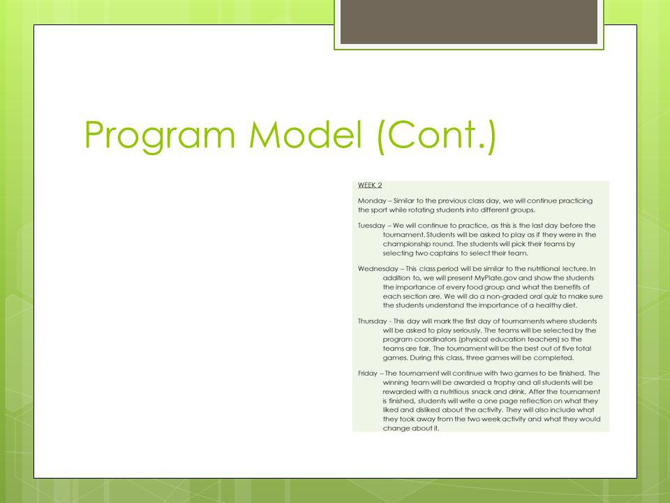 Program Model (Cont.)