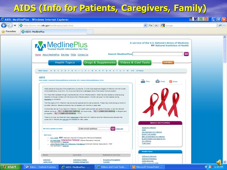 AIDS (Info for Patients, Caregivers, Family)