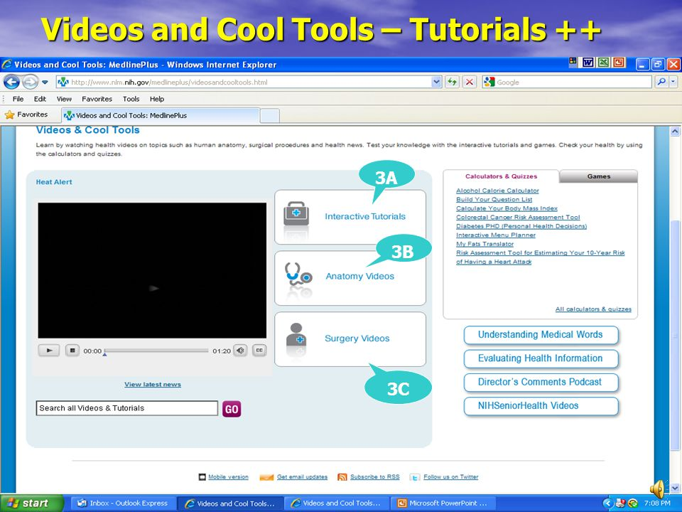Videos and Cool Tools – Tutorials ++ 3A 3B 3C