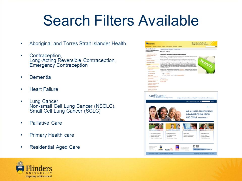 Search Filters Available Aboriginal and Torres Strait Islander Health Contraception, Long-Acting Reversible Contraception, Emergency Contraception Dementia Heart Failure Lung Cancer, Non-small Cell Lung Cancer (NSCLC), Small Cell Lung Cancer (SCLC) Palliative Care Primary Health care Residential Aged Care