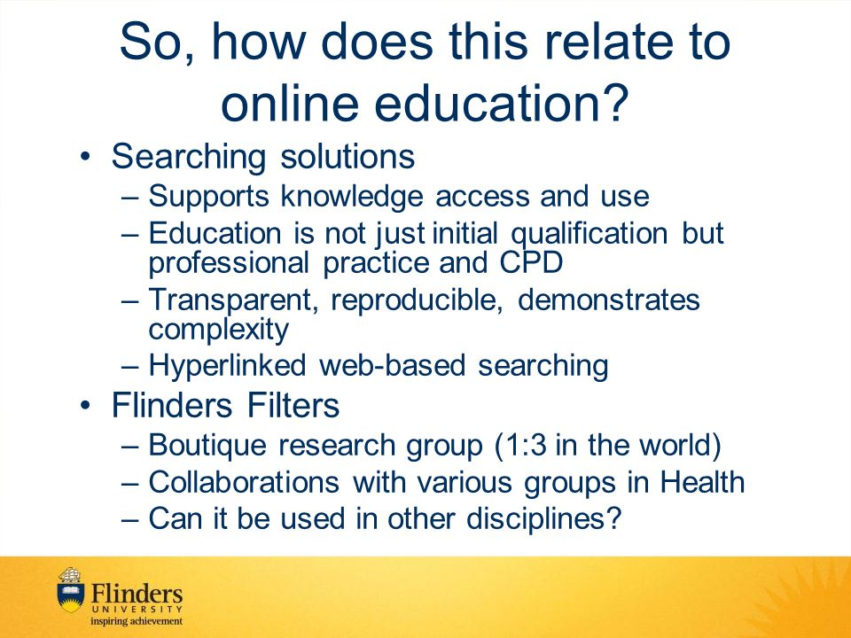 So, how does this relate to online education.