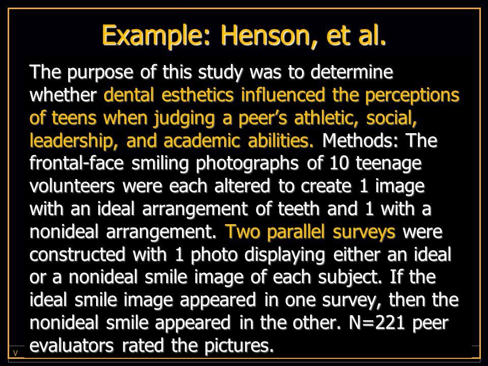 V I R G I N I A C O M M O N W E A L T H U N I V E R S I T Y Example: Henson, et al.